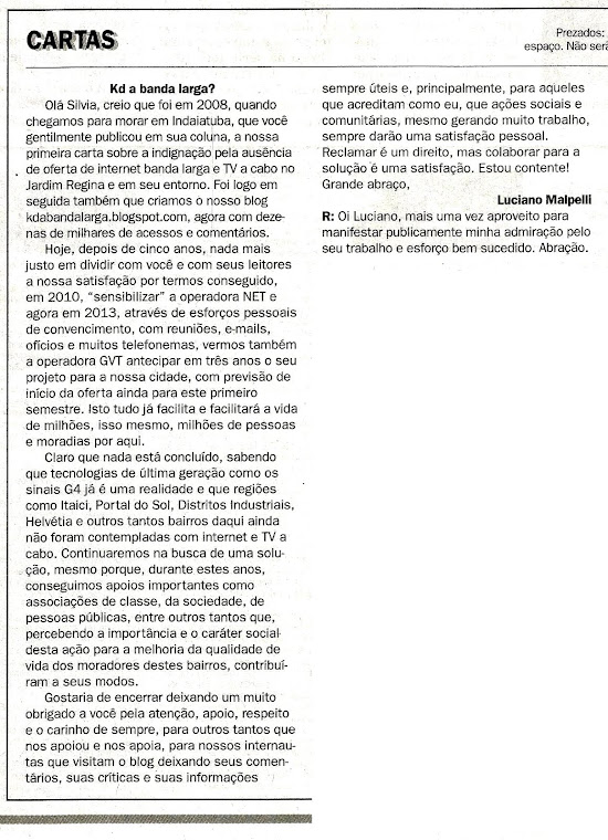 Jornal Tribuna de Indaiá - Silvia em Revista - 13/04/2013