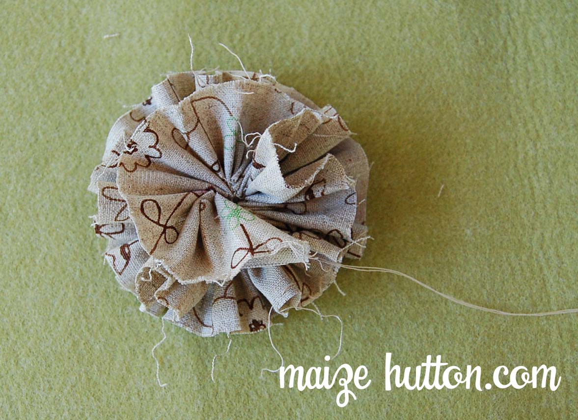 Notes Easy steps How to make organza and fabric flowers
