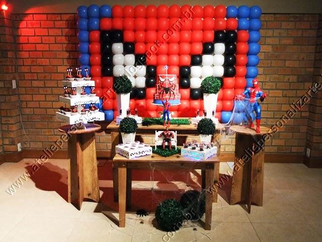 decoração festa infantil homem aranha