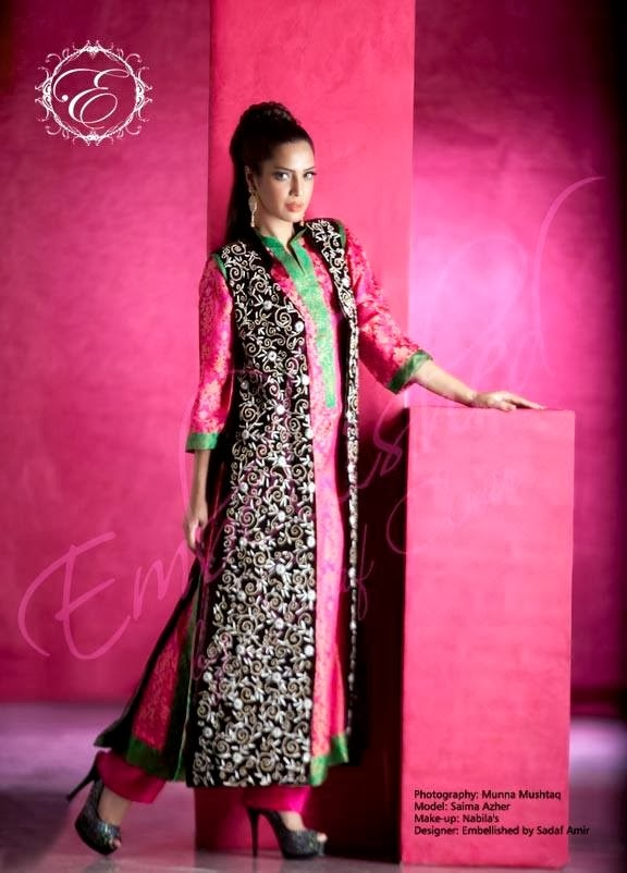 EmbroideredPartyWearDresses2014 wwwfashionhuntworldblogspotcom 08 - Embroidered Party Wear Collection 2014 By Sadaf Amir
