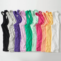 Custom Womens Slim Fit Racerback Tank Top - Color Choices