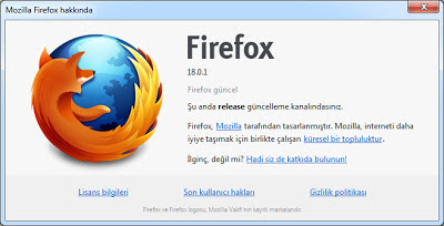 Mozilla Firefox 18.0.1