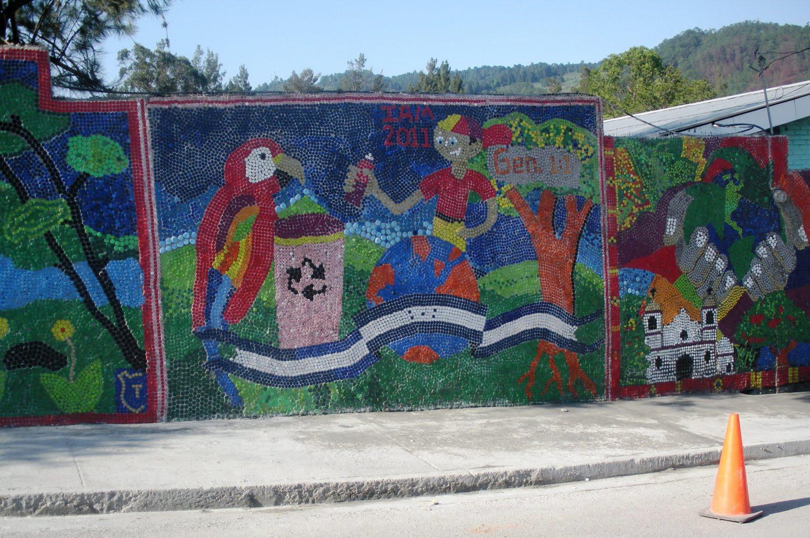 Travelling ian 05 06 11 12 06 11 for Bottle cap mural tutorial