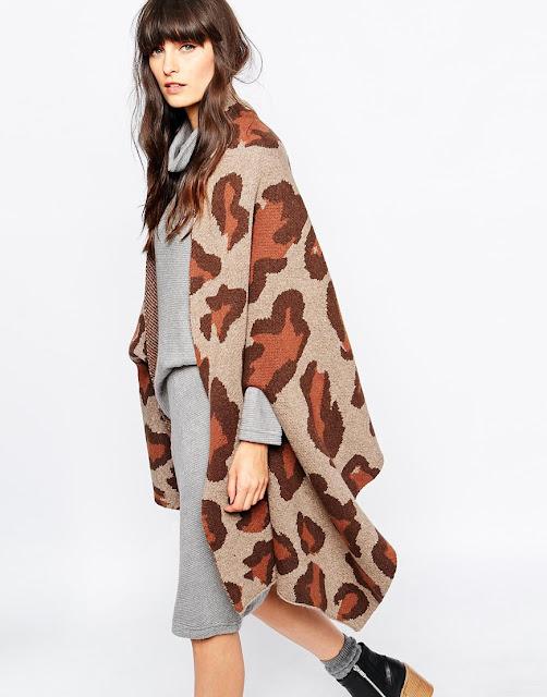 paisie leopard cardigan, leopard poncho, leopard shawl,