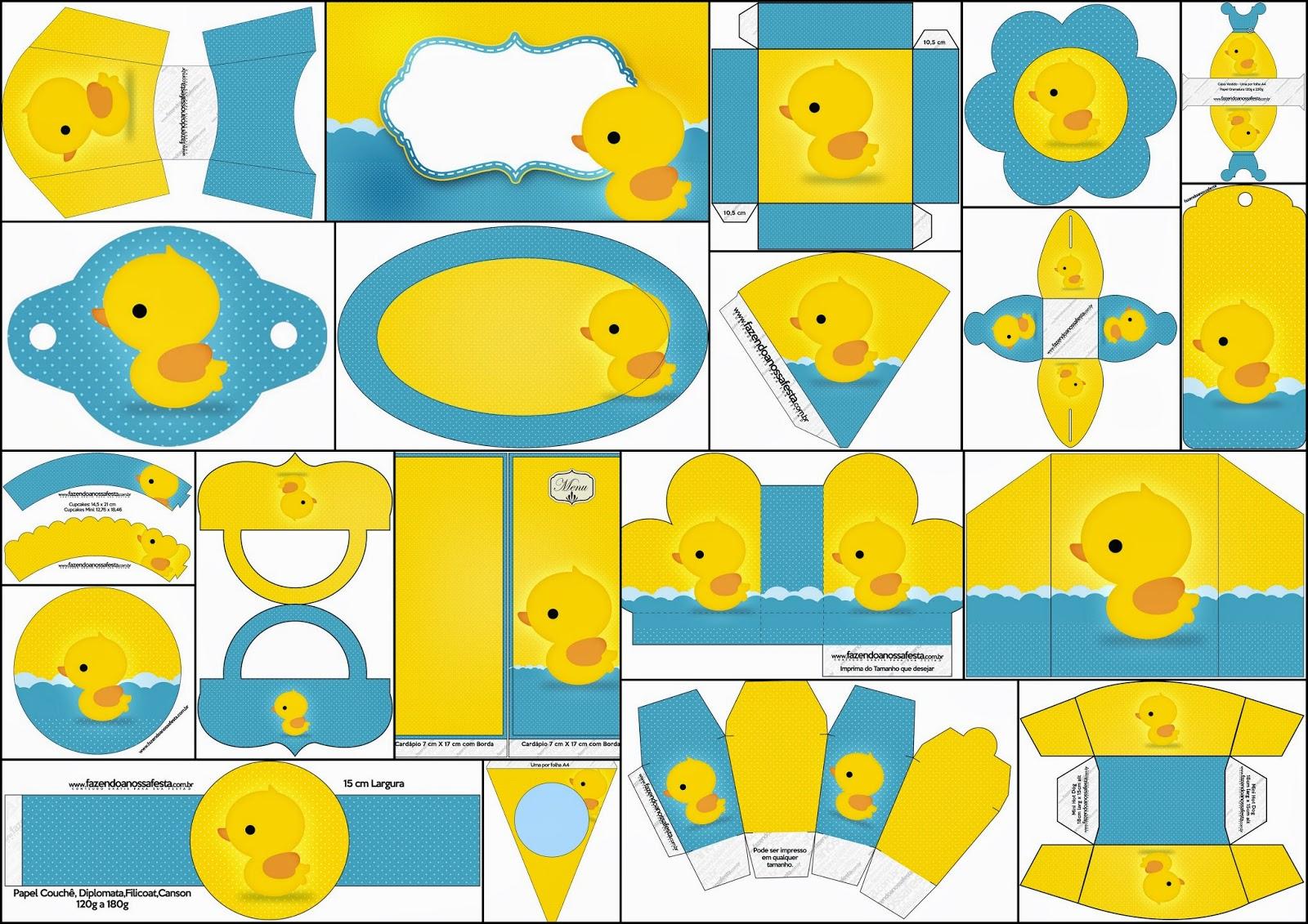 Patitos de Goma: Kit para Fiestas para Imprimir Gratis. | Oh My Bebé!