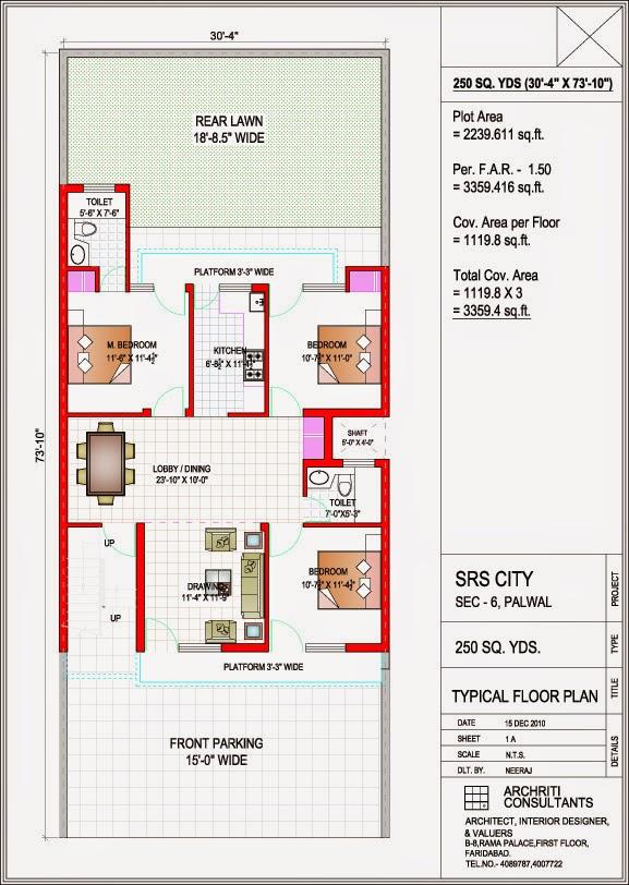 Prime Floor 250 Sq.yd. floor plan