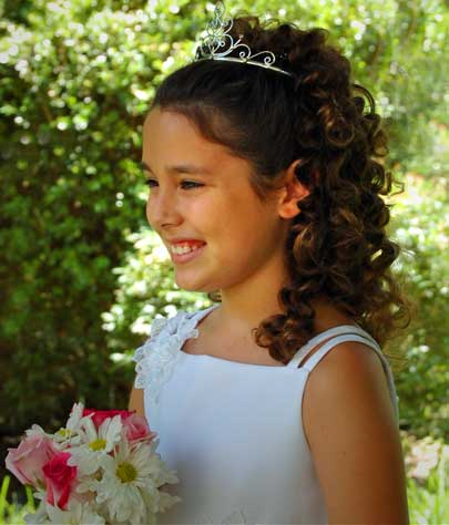 hairstyles for junior bridesmaids