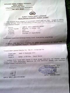 Surat Keterangan Kehilangan Kepolisian