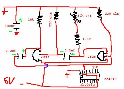 Circuits Lanka Cd4017 Knightrider Circuit