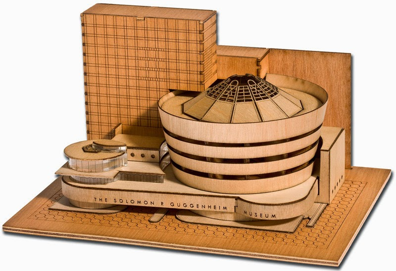 Building Collector: Guggenheim & Sydney Opera House Wooden Architectural Models