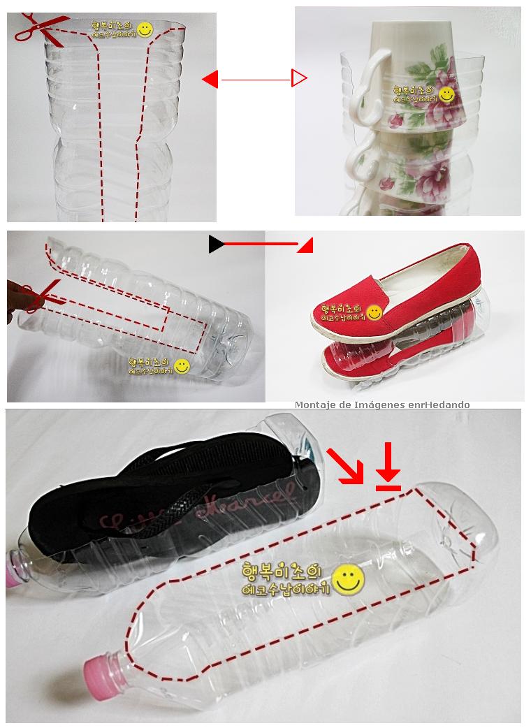 Ma poubelle est un jardin bouteilles plastiques d 39 autres - Como hacer un zapatero ...