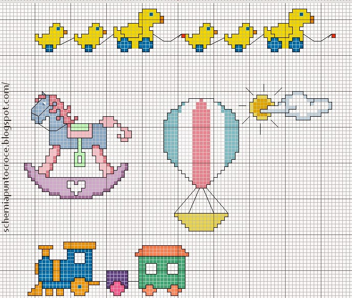 Punto croce per bambini lx78 regardsdefemmes for Ricami punto croce per lenzuolini