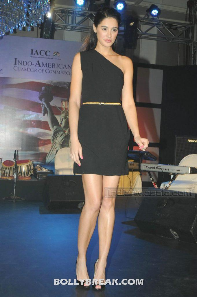 , Nargis Fakhri Black Short Dress Hot Photos