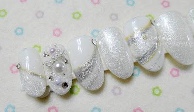 White Pearl Nail, Pearl White Nail, Nail Design - White Pearl
