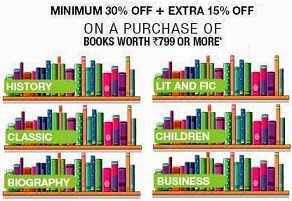 Mega Offer on Books: Minimum 30% & Upto 40% Off + Get Extra 15% extra Off  at Flipkart