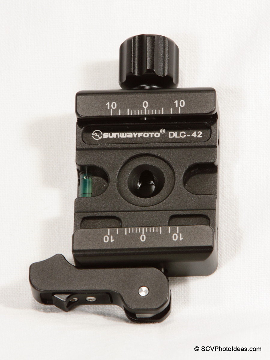 Sunwayfoto DLC-42 Duo QR Clamp top