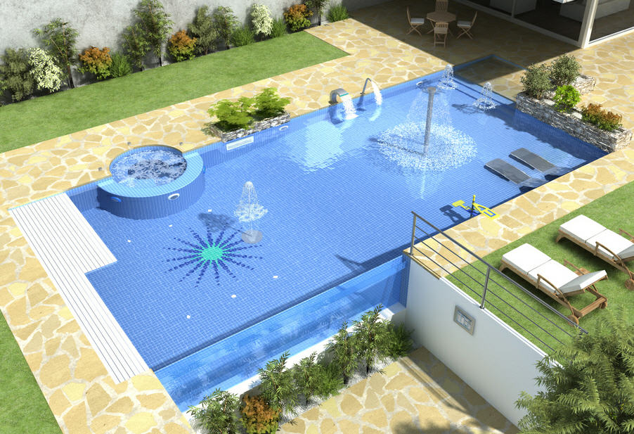 Dise o de casas campestres planos piscinas pergolas for Planos de piscinas temperadas