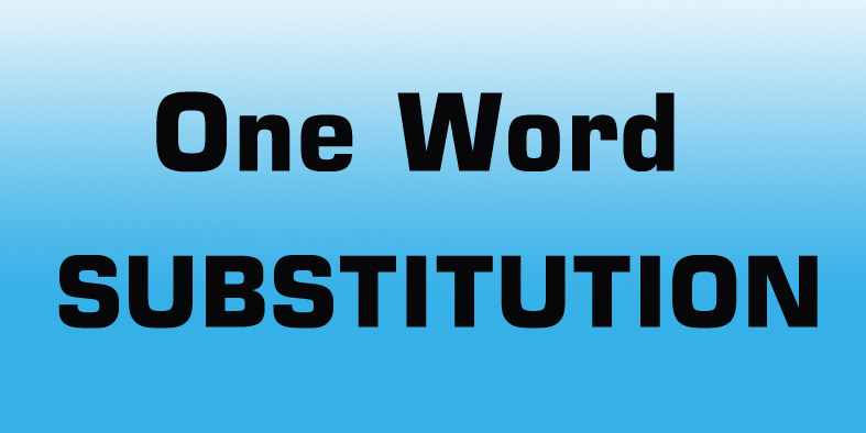 SSC One word substitution 500 pdf Download -SSC CPO,SSC CGL
