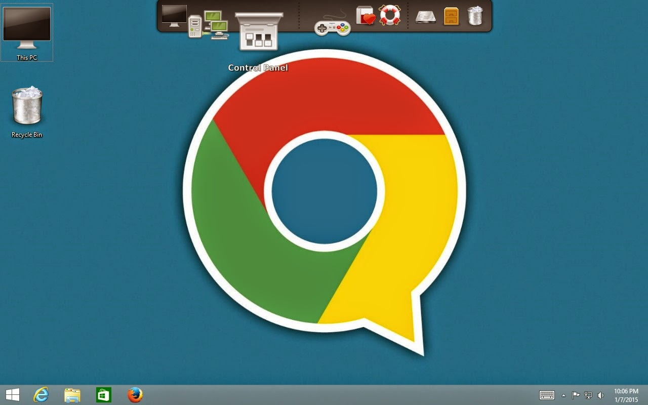 How to use Google Chrome desktop theme on my laptop