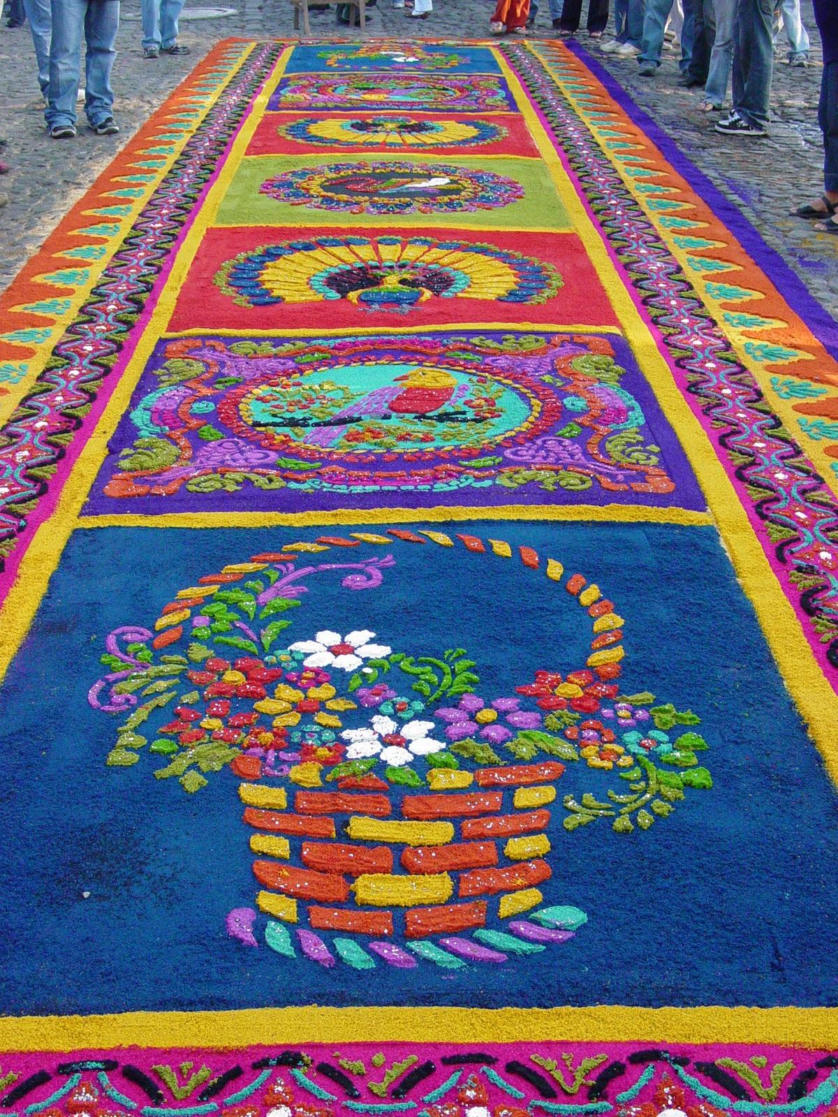 Guatemala en fotografia tradiciones semana santa for Alfombras turcas antiguas