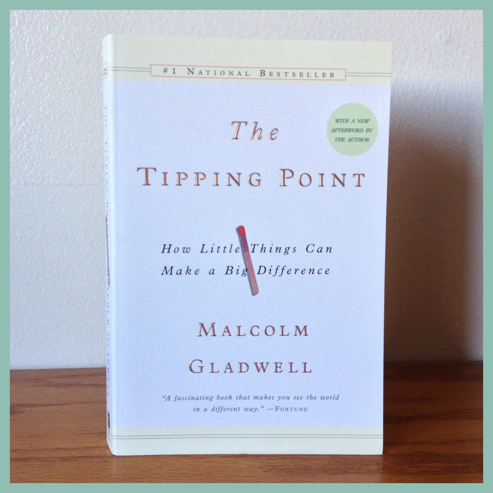 the tipping point by malcolm gladwell 2 essay Brothersjuddcom reviews malcolm gladwell's the tipping point : how little  things can make a  malcolm gladwell (2 books reviewed)  -essay: the  uses of adversity: can underprivileged outsiders have an advantage.