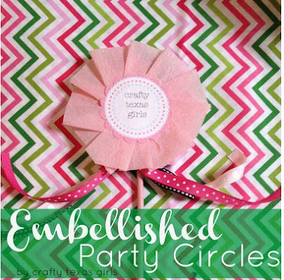 Embellished Crepe Paper Pinwheels (Party Circles)