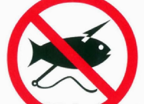 знак запрета подводной охоты