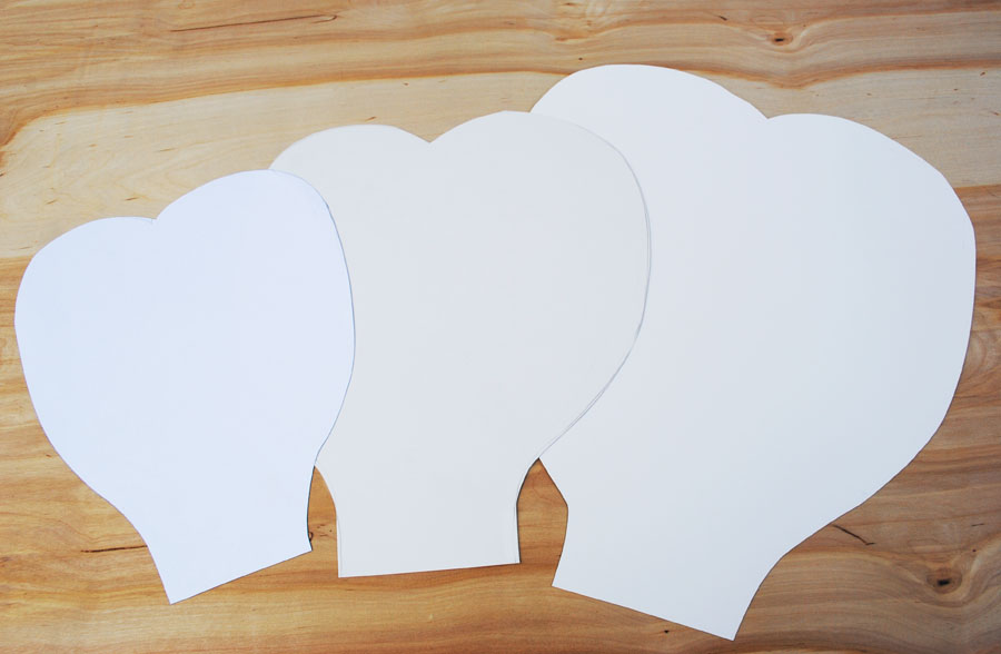 or thick card stock create a petal design of your choice and cut out ...