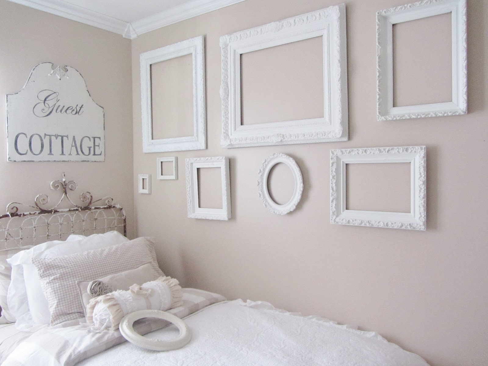 Empty Frames For Wall Decor : Junk chic cottage