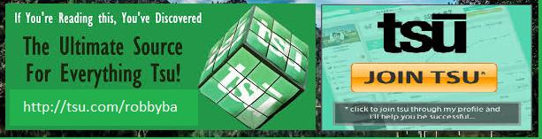 "<a href=""http://www.tsu.co/robbyba"">Join me on TSU</a>  -- a new social media site"
