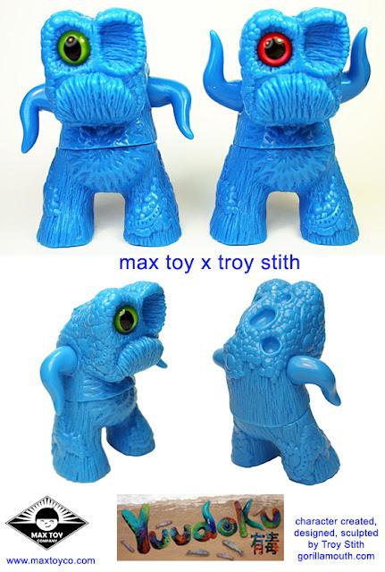 Troy Stith x Max Toy Co Blue Unpainted Yuudoku Vinyl Figure