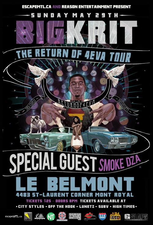 big krit montreal show belmont flyer