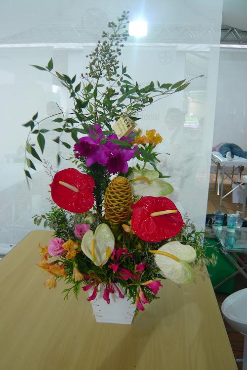 Ikebana para Stand da Avon .