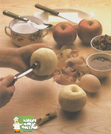 Manzanas rellenas Hojaldradas