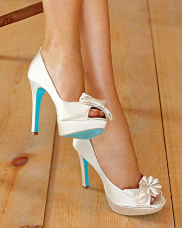 Something Blue Wedding Ideas - Blue Shoes Soles