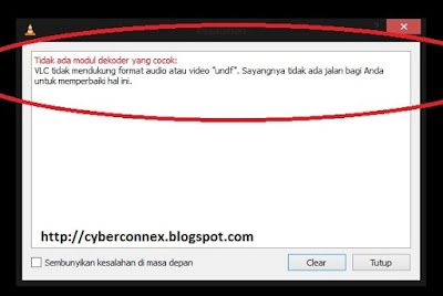 "Cara Mengatasi ""VLC does not support UNDF Format"""