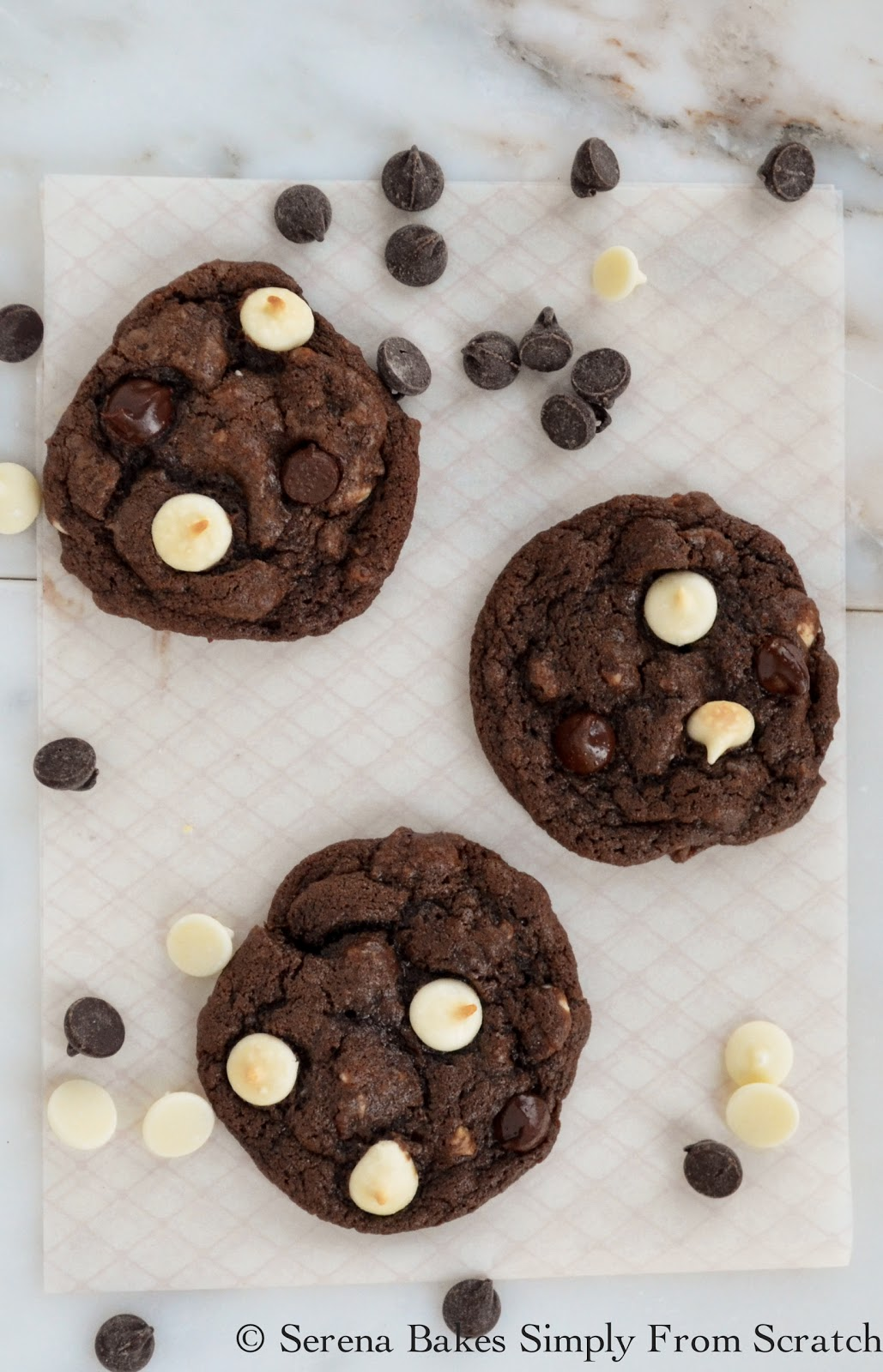 Double Chocolate Chip Cookies - Serena Bakes Simply From Scratch
