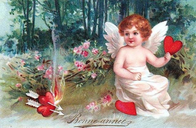 Vintage Bonne Année Happy New Year card