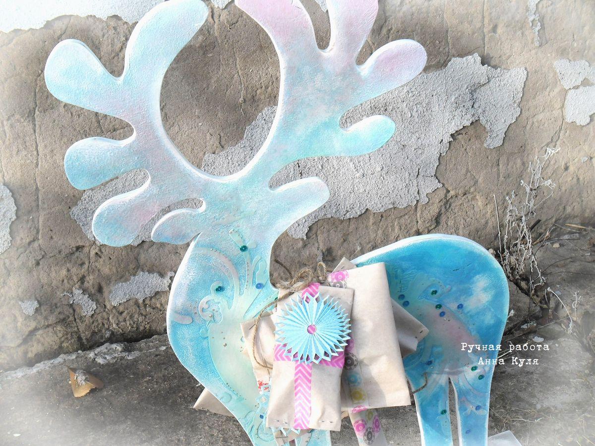 краски, олень, адвент календарь