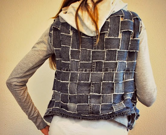 http://www.trashtocouture.com/2012/04/jeans-basket-weave-into-textured.html