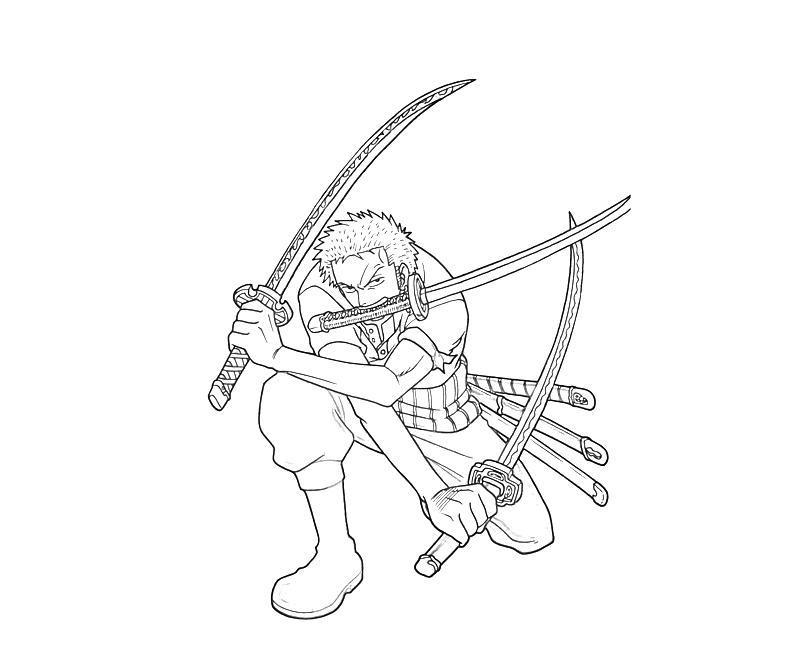 One Piece Coloring Pages http://mariothemes.blogspot.com/2012/11/one-piece-roronoa-zoro-skill.html