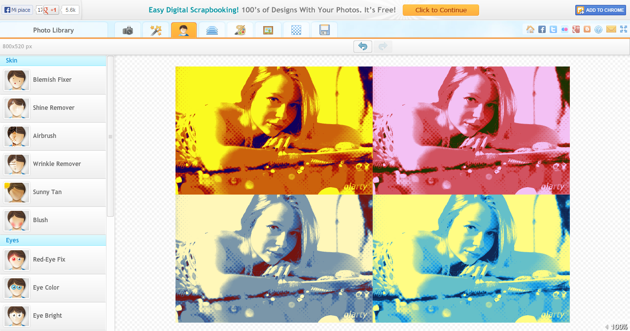 iPiccy - Editor di fotoritocco online per modificare, applicare