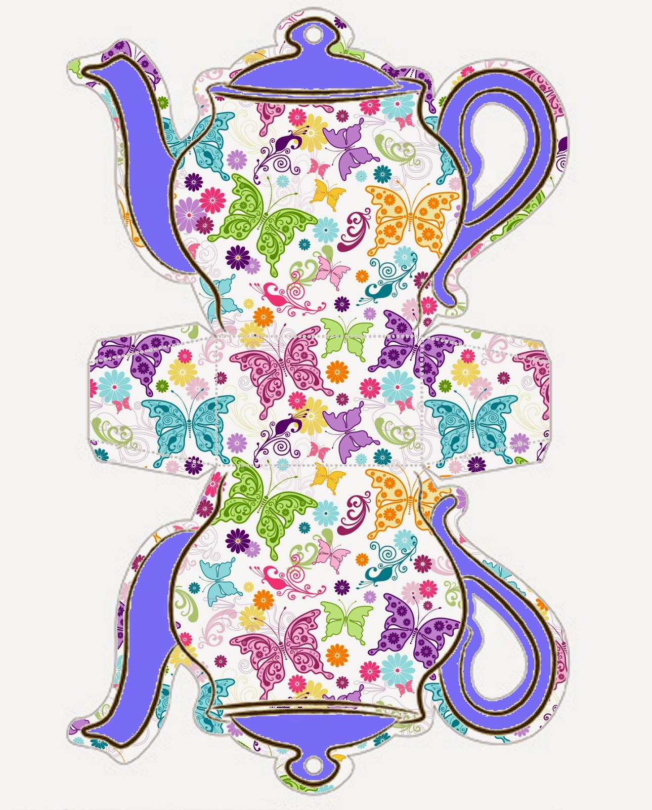 It is a graphic of Magic Teapot Template Printable