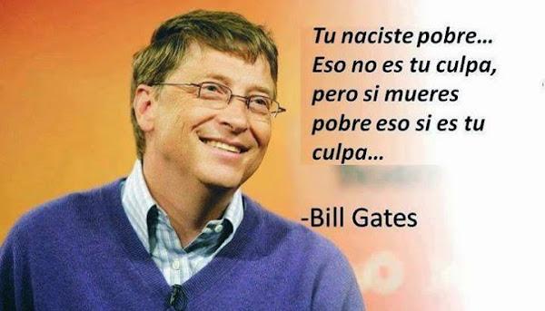 frase naciste pobre Bill Gates
