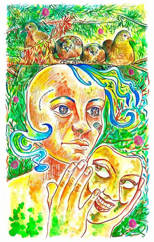 Ilustración, En la red social de Vivian Saad