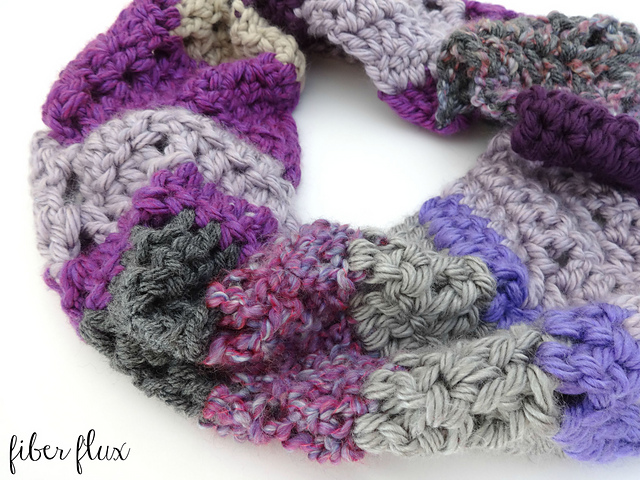 free crochet pattern chunky stashbuster cowl