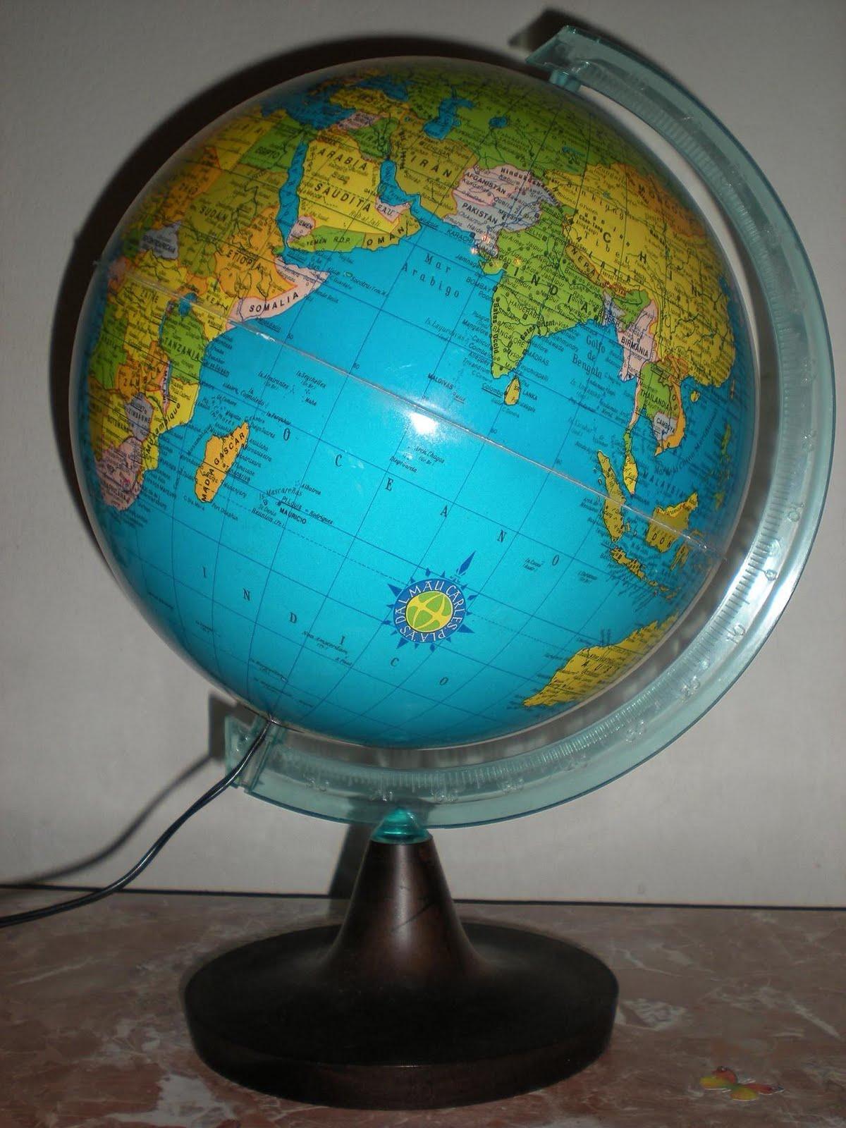 mi mundo de papel globo terrqueo