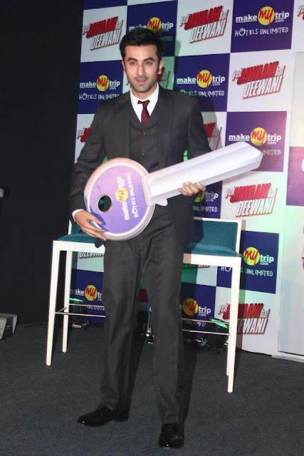 Ranbir Kapoor promotes Yeh Jawaani Hai Deewani with Make My Trip