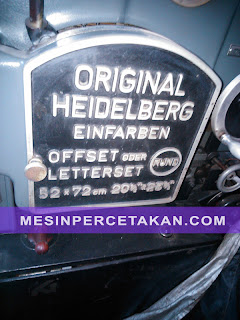 Heidelberg KORS printing size