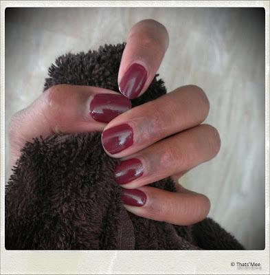 Manucure Peggy Sage #490 rouge érable